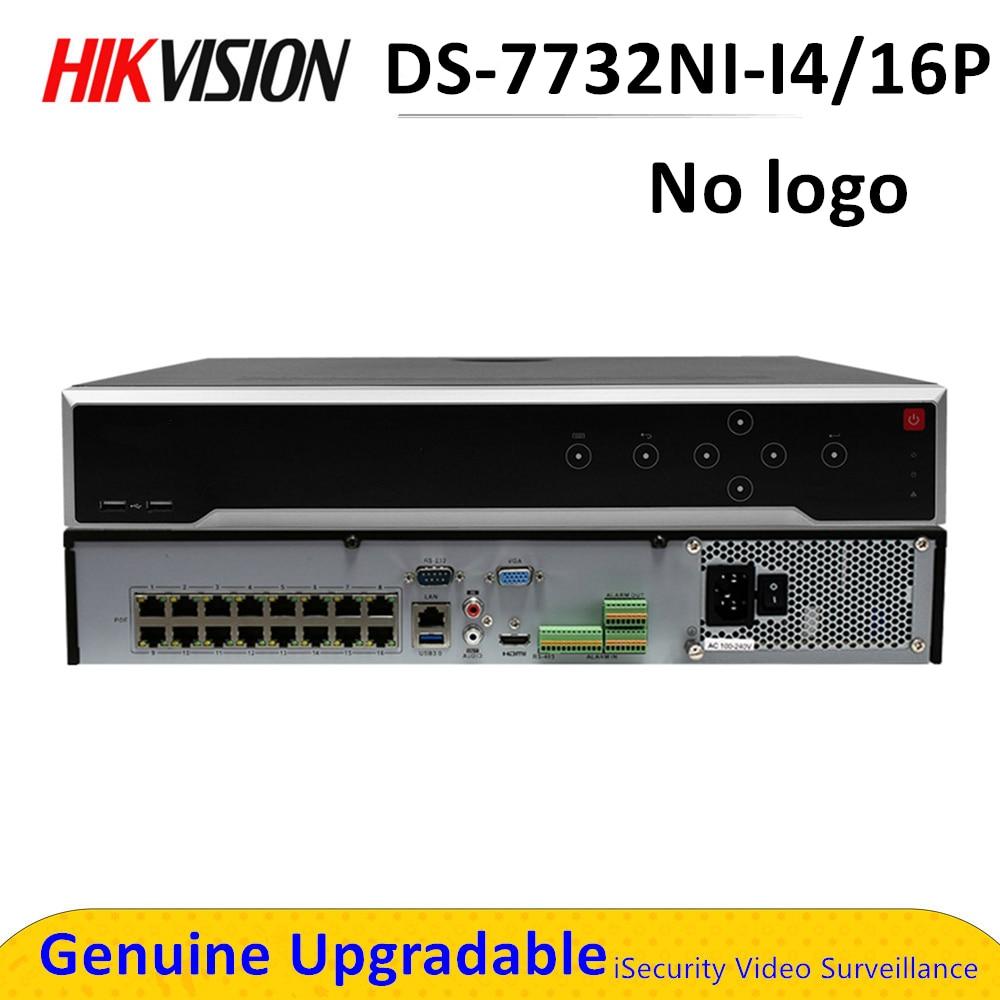 Hik NVR POE Sans Logo 12MP 32CH 4K DS-7732NI-I4/16 P 16 Ports POE 4 SATA Enregistreur Vidéo Réseau D'alarme de Soutien Max 32 TO Onvif