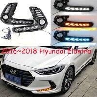 Dynamic 2016~2018year car bumper for Hyundai Elantra daytime light car accessories LED DRL headlight for Elantra fog light