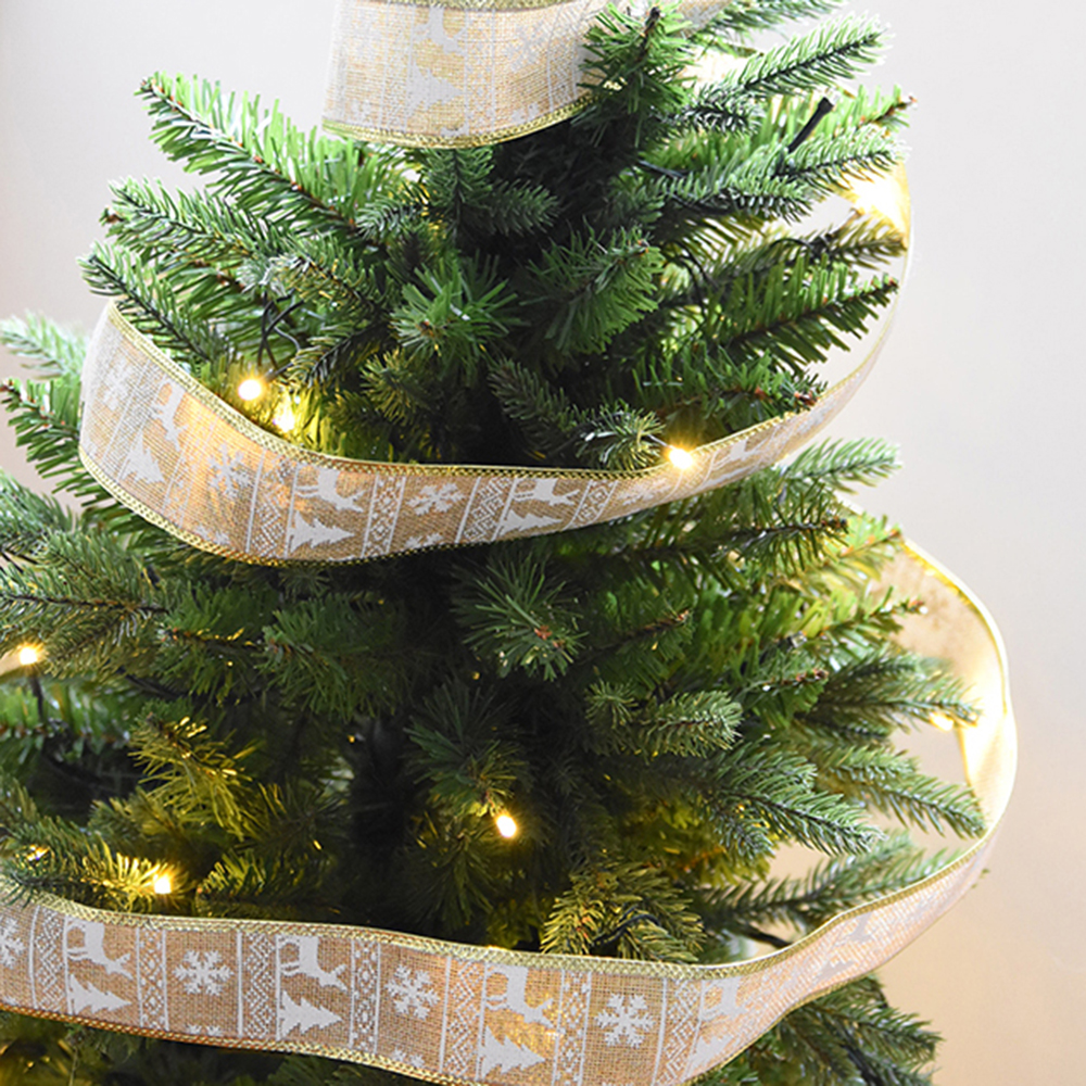 200*5CM Glitter Ribbon Lace Christmas Xmas Tree Decor Wedding Party Ornament