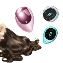 Electronic Ionic Hairbrush Portable Massage Hair Brush Multifunction Mini Massager For Styling Comb