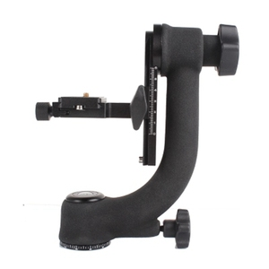 Image 2 - Bk 45 Panoramic 360 Degree Vertical Pro Gimbal Tripod Head 1/4 inch Screw For Dslr Camera Telephoto Lens Quick Release Plate