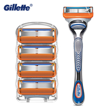 Gillette Fusion5 Men's Razor Handle with Replaceable Blades for Manual Shaving Safety Facial Care Beard Shave Razor Blades