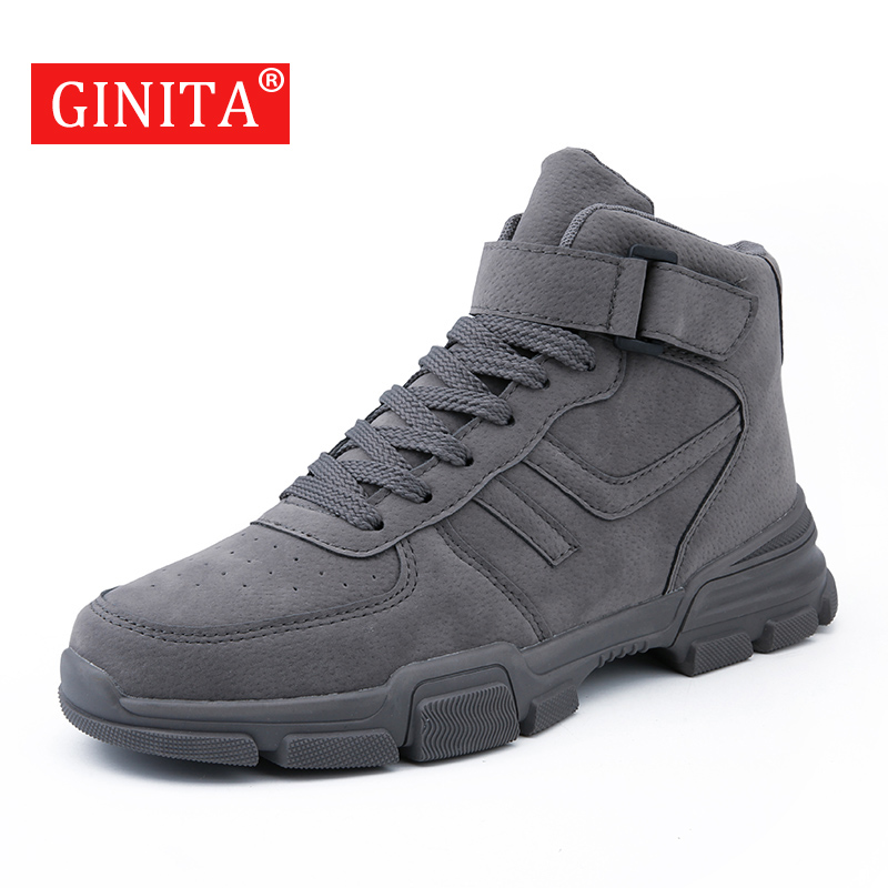 Brand Men Fahion Ankle Boots PU Leather Men's Casual Shoes 2019 Autumn Male Fashion Sneakers