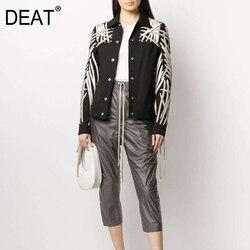 DEAT 2020 предзаказ Эластичный шнурок крест полная длина тонкие ноги высокие уличные брюки женские брюки и однобортная куртка