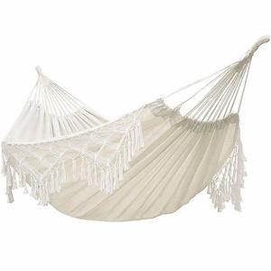 Image 5 - Tassel Hammock White Nylon Canvas hammock