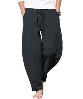 Hot Sale Autumn Plus Size Hip Hop Harem Pants Men Casual Loose Trousers Drawstring Joggers Black M-5XL hot sale m page 5