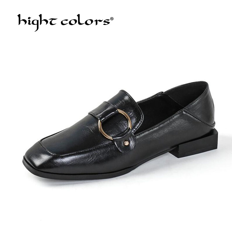 (35 ~ 39) nouveau 2020 printemps haute qualité femmes marque chaussures plates chaussures décontractées sans lacet mocassins dames doux mocassins noir marron RV-509
