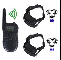 Dog trainer (one for two) rechargeable dog trainer remote control waterproof bark stopper dog collar dog leashes Z2067