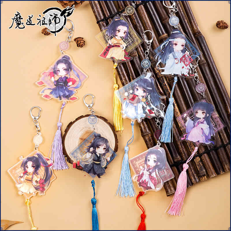 The Untamed Decoration Keychain Grandmaster of Demonic Cultivation Wei Wuxian Lan Wangji Xiao zhan Wang Yibo MoDaoZuShi Gift