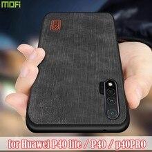 Mofi dla huawei P40 Lite obudowa huawei p40 P40 Pro obudowa silikonowa odporna na wstrząsy dżinsy PU skóra TPU