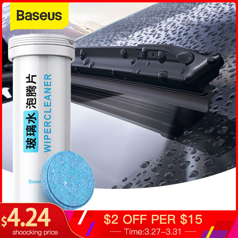 Baseus 12PCS Car Windshield Glass Cleaner Effervescent Tablets Solid Wiper Auto Window Cleaning Water Car Acccessories