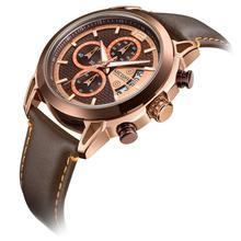 MEGIR  Creative Chronograph Men Watch Relogio Masculino Fashion Leather Quartz Wrist Watches Clock Hour Army Military