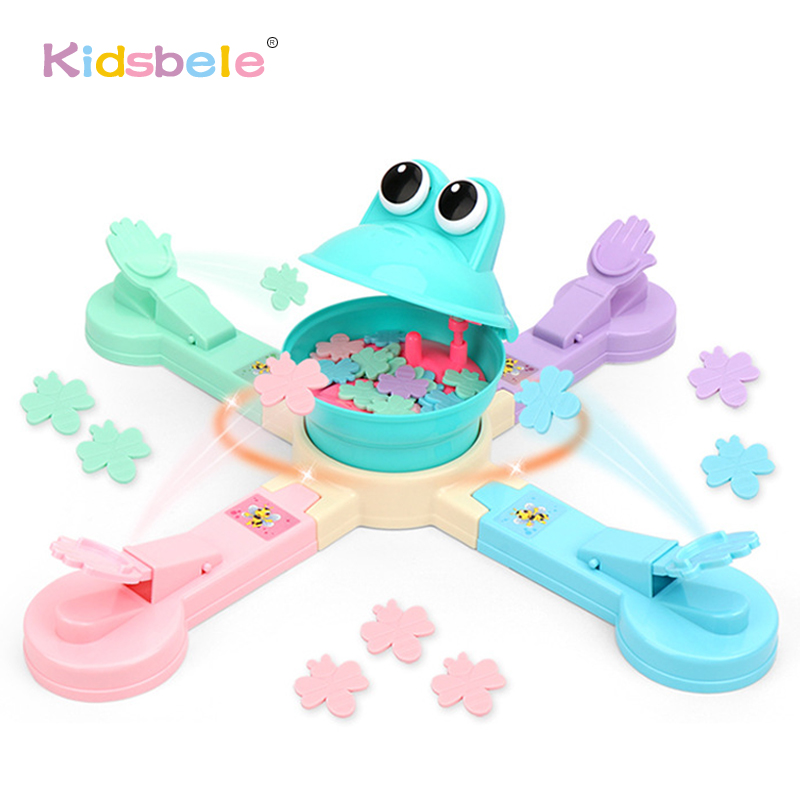 Feeding Frog Eating Biscuits Game Toys Funny Indoor Parent-Child Interactive Table Sports Game Toy Electric Party Game For Kids