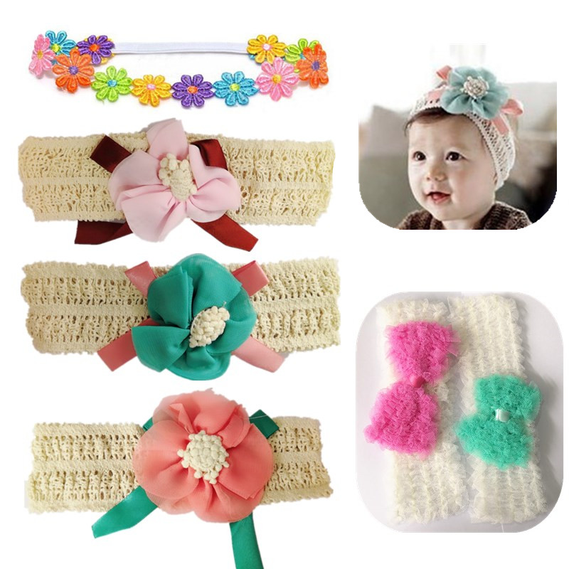 Cute Toddler Baby Girl Headband Lace Bow Flower Infant Hair Band Accessor New