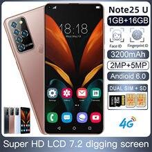 Smartphone note 25u + 19:9, Android 6,0, 1GB + 16GB, identificación facial, 4G