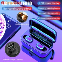 For Doogee S90 S60 S70 S80 Lite ZTE Axon 9 10 pro Ulefone Power 5 Leagoo Twins Bluetooth Earphones Wireless Headphone with Mic