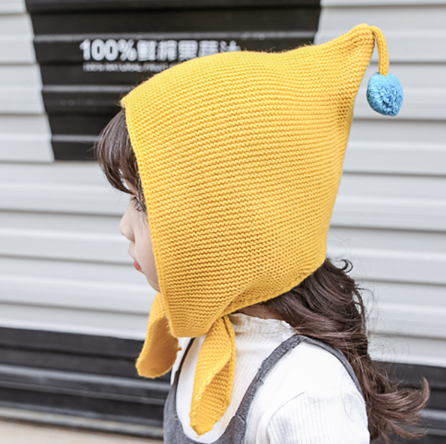 2020 New Style Kids for Children Wind Knitted Winter Autumn Elf Hat Cap Baby's Wool Ball Top Cap Gifts