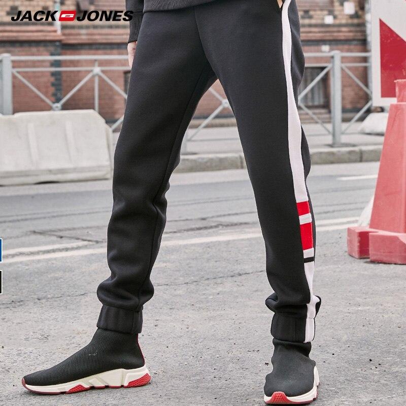 JackJones Men's 100% Cotton Slim Fit Contrasting Splice Tapered Pants | 219314543