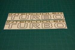Наклейки для интеркулера Turbo 240 мм, графические наклейки Pajero Shogun 4WD, 2 шт.