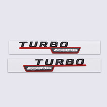 For TURBO 4Matic Turbo Sticker for Mercedes AMG Benz W211 W212 W213 W203 W204 W205 Class A ML CLA GLA Tail Emblem Car Styling(China)
