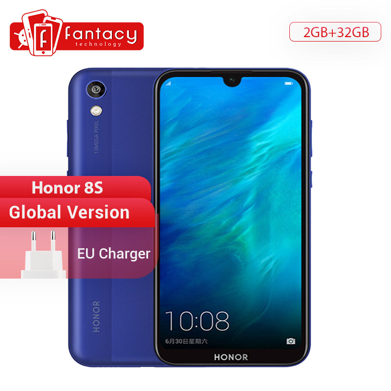 Global Version Honor 8S Smartphone 2GB 32GB MTK MT6761 5.71 Inch Screen 13MP Rear Camera Mobile Phone Android 9.0 Google Play