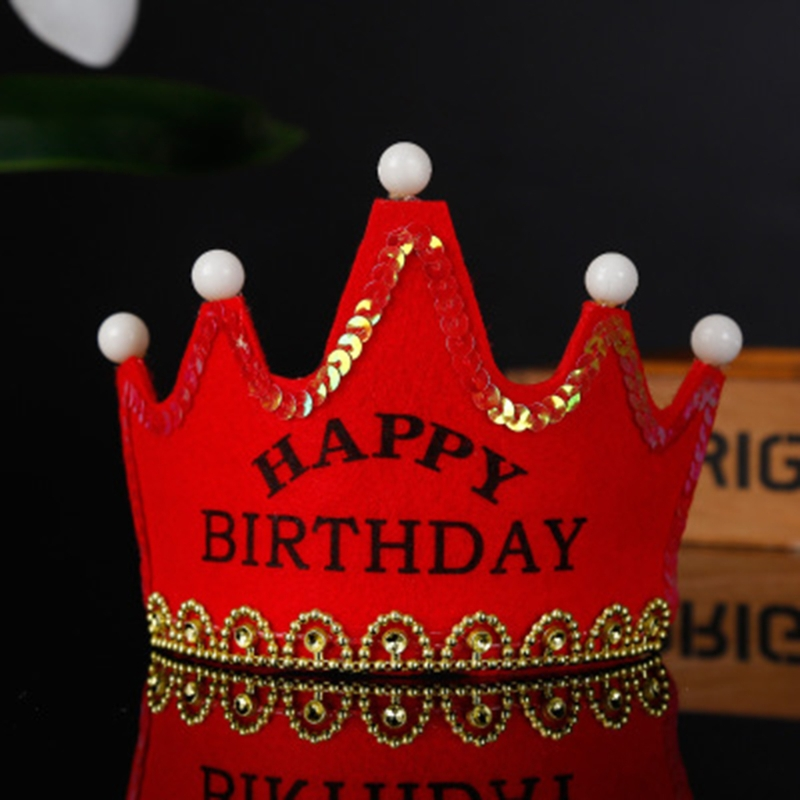 New Led Crown Hat Birthday Party Decorations Kids Baby Shower Photo Props