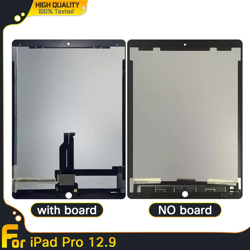 Lcd para apple ipad pro 12.9 (versão 2015/2017) a1670 a1671 2nd display lcd tela de toque digitador assembléia painel + placa pequena