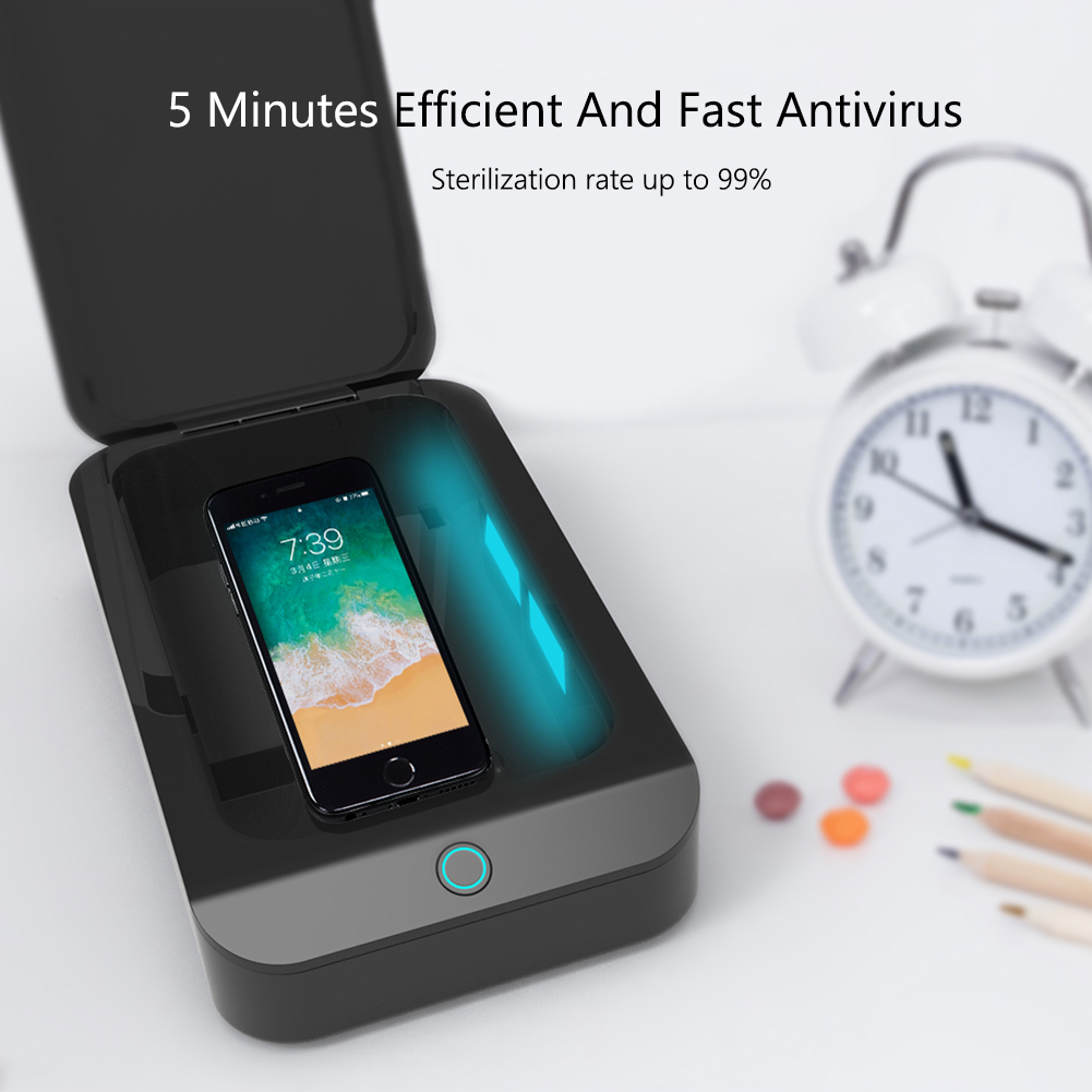X2 UV Phone Sterilizer Box Jewelry Phone Makeup Tool Cleaner Sanitizer Disinfection Box Toothbrush Sanitizer image