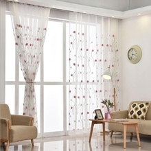Modern Floral Embroidered White Tulle Curtains for Living Room Bedroom Sheer Curtains Kitchen Window Treatments Voile  Curtain цена и фото