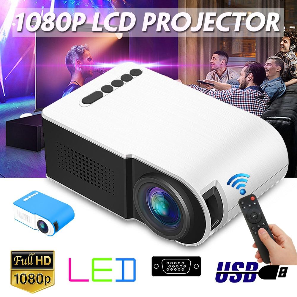 FÜHRTE Mini Projektor Tragbare Full HD 3D Projektor 7000 lumen TFT LCD Heimkino Unterhaltung Projektoren Video Multi-media