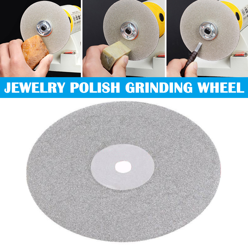 6/4 Inch 150/100mm Diamond Coated Flat Lap Disc Jewelry Polish Grinding Wheel CLH@8