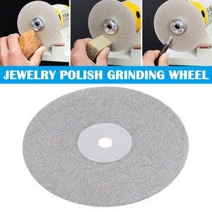 6/4 Polegada 150/100mm diamante revestido disco colo plana jóias polonês rebolo clh @ 8
