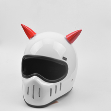 Car Motorcycle Helmet Devil Horn Motocross silicone Cute Ful