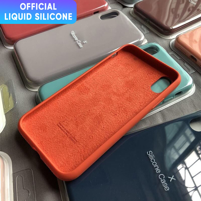 Offizielle Flüssigkeit Silikon Telefon Fall für iphone 12 11 Pro Max Mini X XS MAX XR 7 8 6S plus SE 2020 Volle Schutzhülle Original Abdeckung