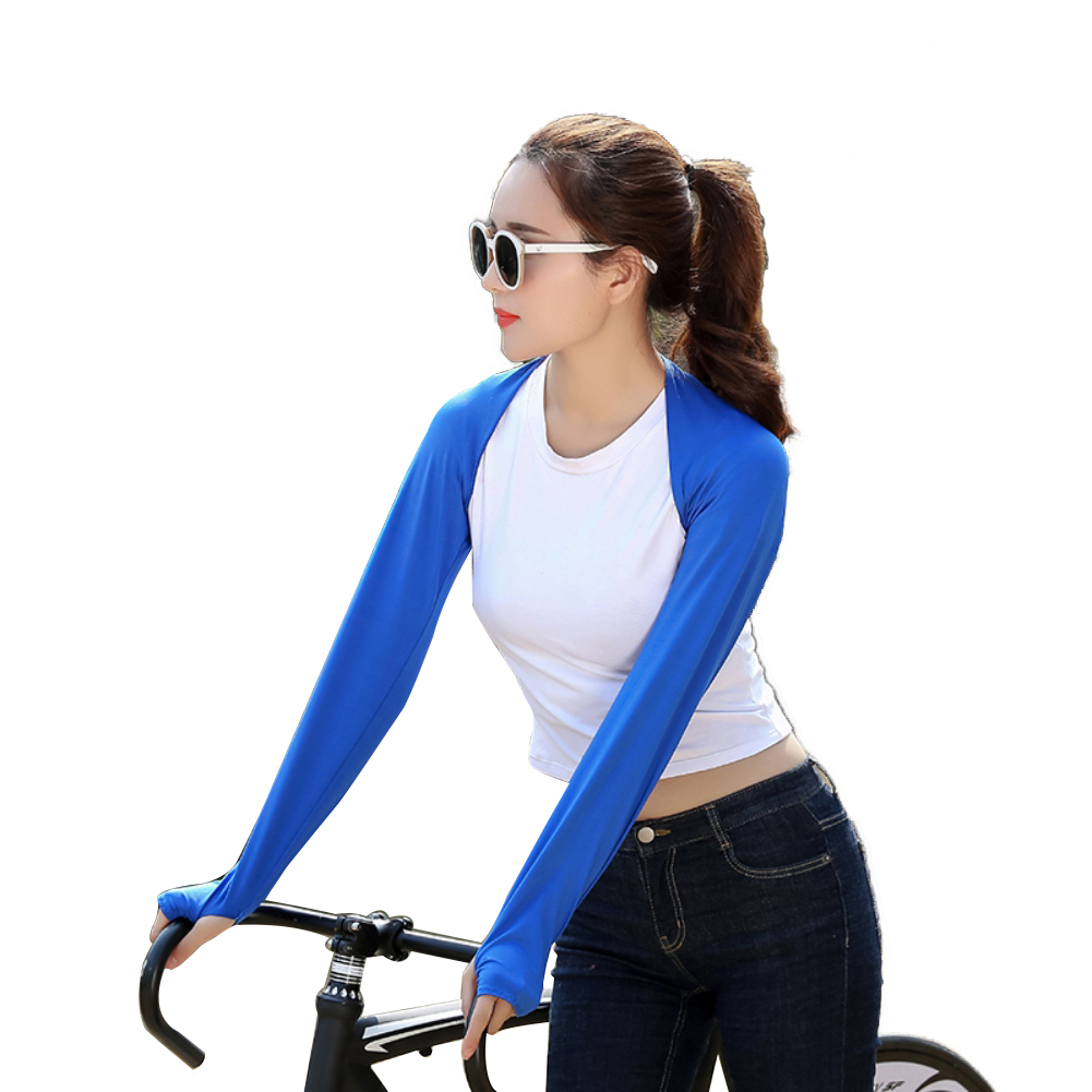 1Pair Ice Fabric Breathable UV Protection Running Arm Sleeves Fitness Basketball Elbow Pad Sport Cycling Outdoor Arm Warmers