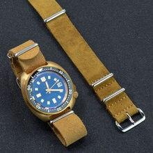 Soft Suede Leather Nato Zulu Watch Strap 20mm 22mm Brown/Khaki Watch Band Watch Belt Wrist Strap Quick Release Watch Accessories