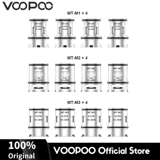 12pcs Original VOOPOO Maat Tank Coils 0.13ohm 0.17ohm 0.2ohm Maat Tank Core Heads for Alipha Zip Mini Find Electronic Cigarette