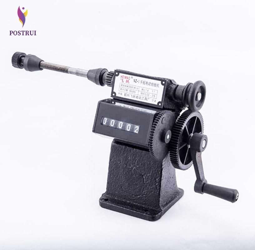 POSTRUI Dual-use Winding Small Coils Manual Winding Machine Hand Coil Counting Winding Machine Winder 0-9999 Count Range