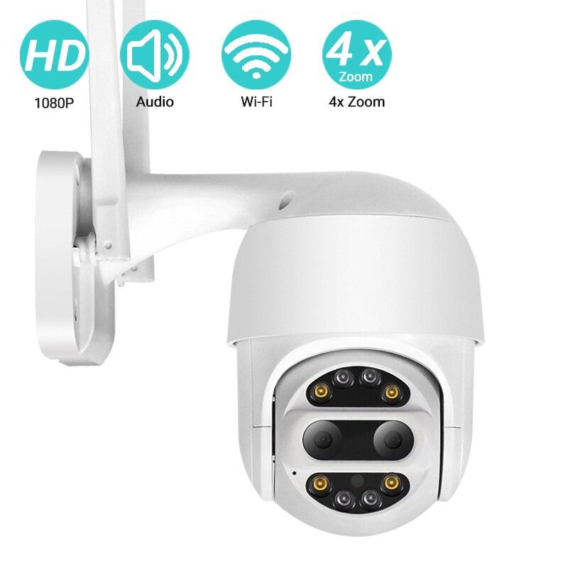 BESDER 2MP PTZ Binocular Camera 4x Zoom Auto Tracking Mini WiFi IP Camera Cloud Storage Motion Detection Speed Dome CCTV Camera
