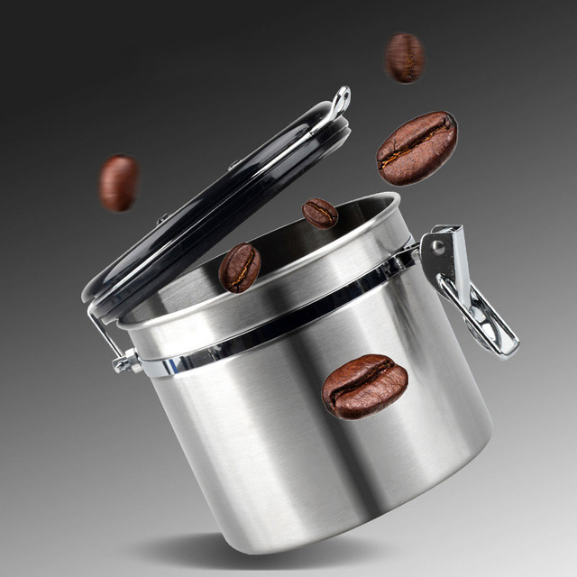 Metal Coffee Storage Coffee Container Storage Canister Bottle Stainless Steel  Coffee Storage Jar Nut Sugar Tea Container 1