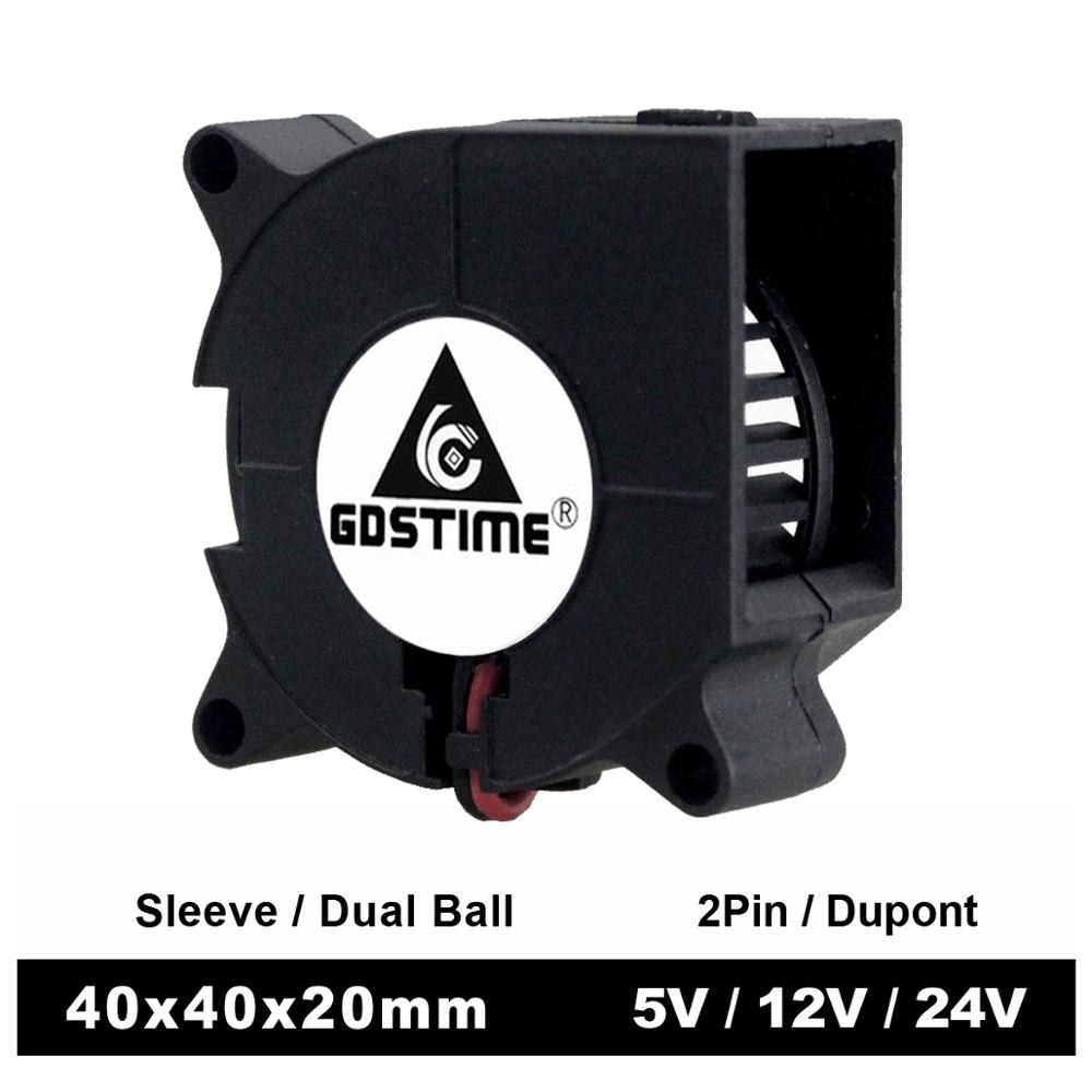 2 шт., охлаждающий вентилятор для 3D-принтера, 40 мм, 4020, 5 В, 12 В, 24 В, 40x40x20 мм, 40*20 мм, 4 см