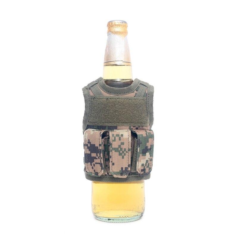 Useful Military Mini Miniature Molle Vest Personal Bottle Drink Set Adjustable Shoulder Strap Drink Tactical Beer Bottle Cover