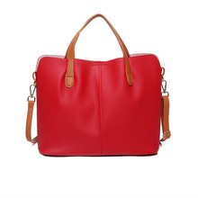 Fashion Leather Mother Bag European and American Style Contrast Color Designer Handbag Quality 2019 Summer New Womens