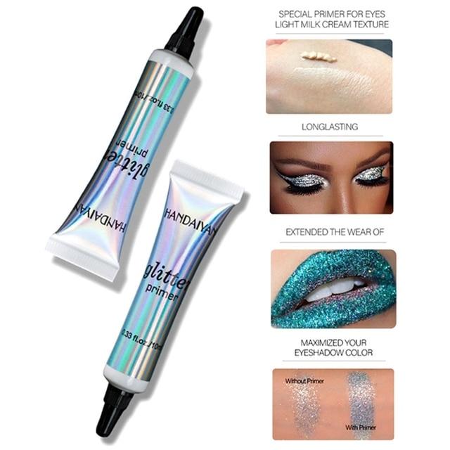 Glitter Primer Sequined Primer Eye Makeup Cream Waterproof Sequin Glitter Eyeshadow Glue Korean Cosmetics 2