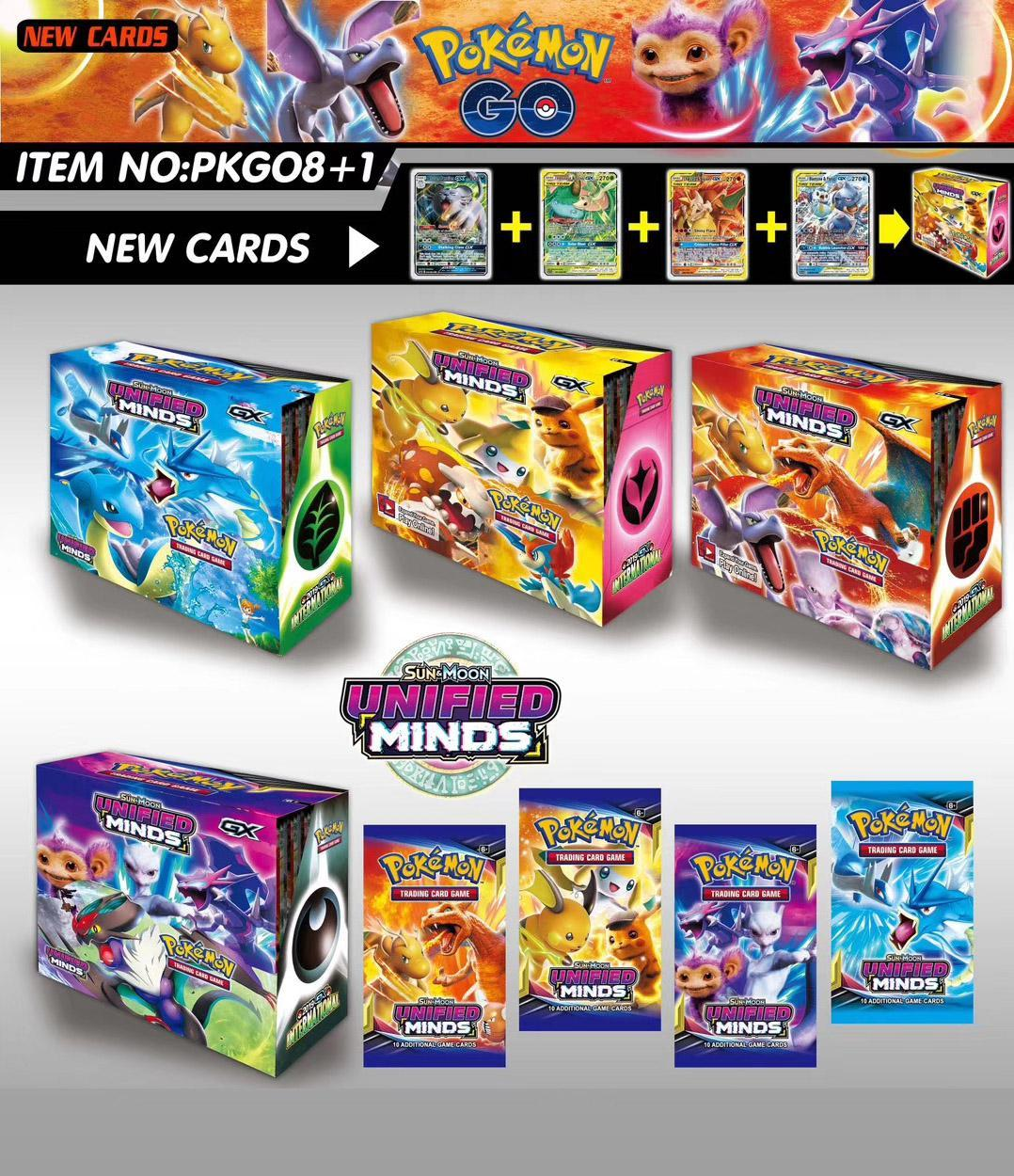 324pcs Pokemon Cards Sun & Moon Dragon Majesty Booster Box Per Collectible Trading Card Game Kids Toy