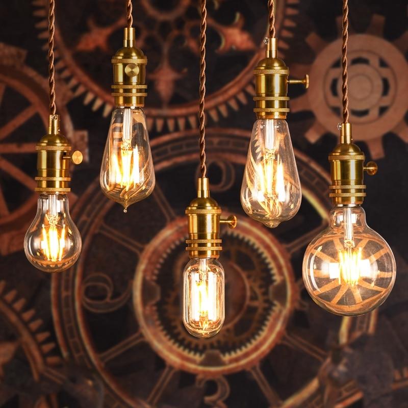 LED Filament Bulb E27 Retro Edison Lamp 220V E14 Vintage Candle Light E27 E14 Real Watt 2W 4W 6W 8W Vintage LED Edison Bulb