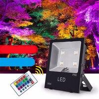 RGB LED Flood Light Outdoor Spotlight 30W 50W 100W 150W 200W 300W Led Floodlight 16 Color AC85-240V Reflector Led Waterproof