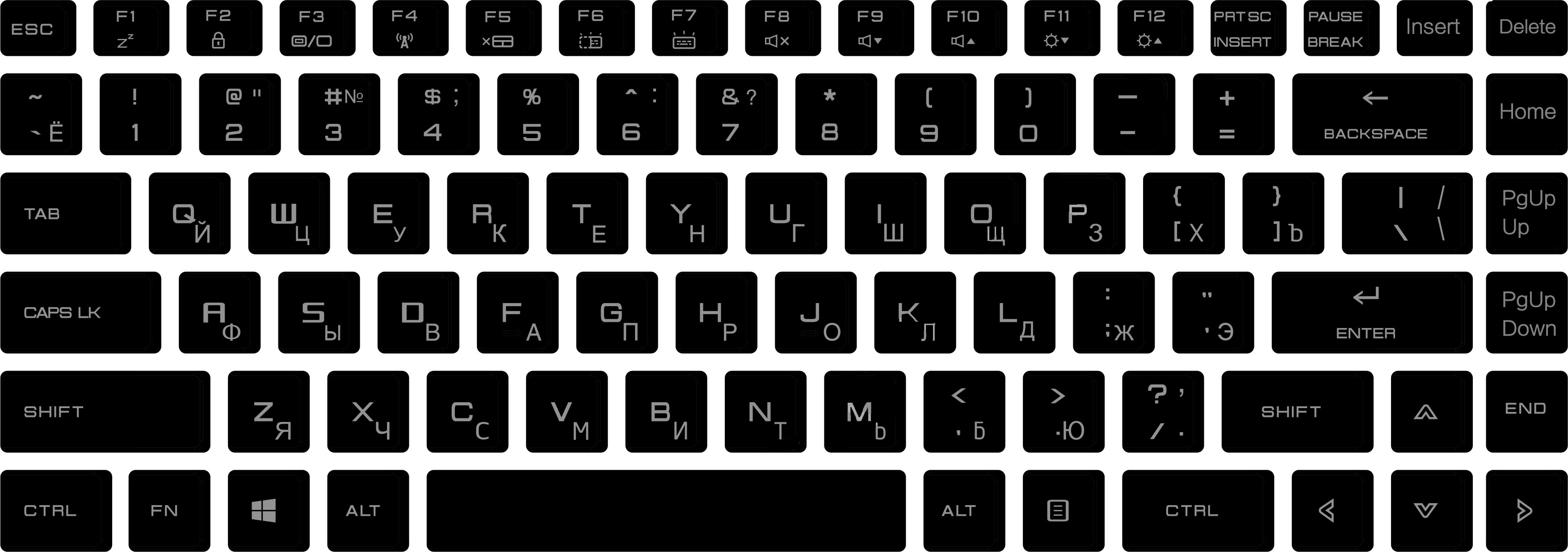 MaiBenBen XiaoMai  Russian Keyboard Cover Hold Sticker Skin-Cover Anti-Dusty Laptop Notebook