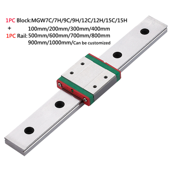 MGW7C MGW7H cnc parts 14mm linear rails 200mm 300mm 500mm high speed motion linear guide rails mjunit mj50 long guideway system linear motion with 300mm stroke length linear motion actuators
