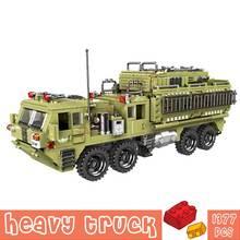 1377 шт военный грузовик ww2 swat строительные блоки игрушки
